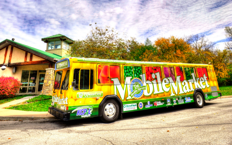 Mobile Market Bus Wrap